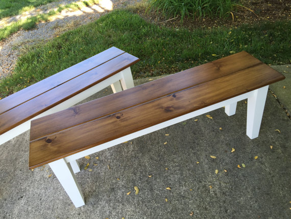 Superb Farm Table Benches Kountry Kupboards Ibusinesslaw Wood Chair Design Ideas Ibusinesslaworg